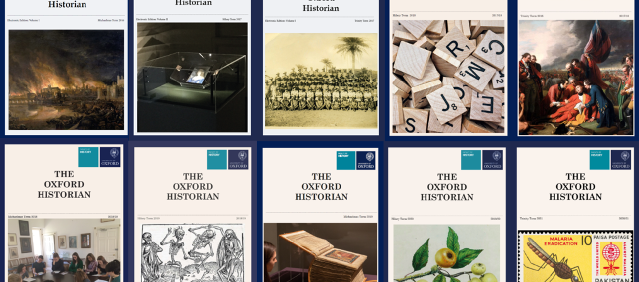 A number of Oxford Historian covers