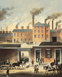 Factories running during the industrial revolution