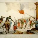 A barricade on Place Blanche during Bloody Week, whose defenders included Louise Michel and a unit of 30 women
