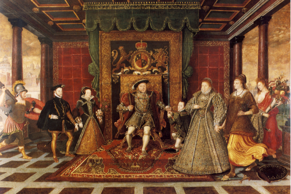 family of henry viii an allegory of the tudor succession
