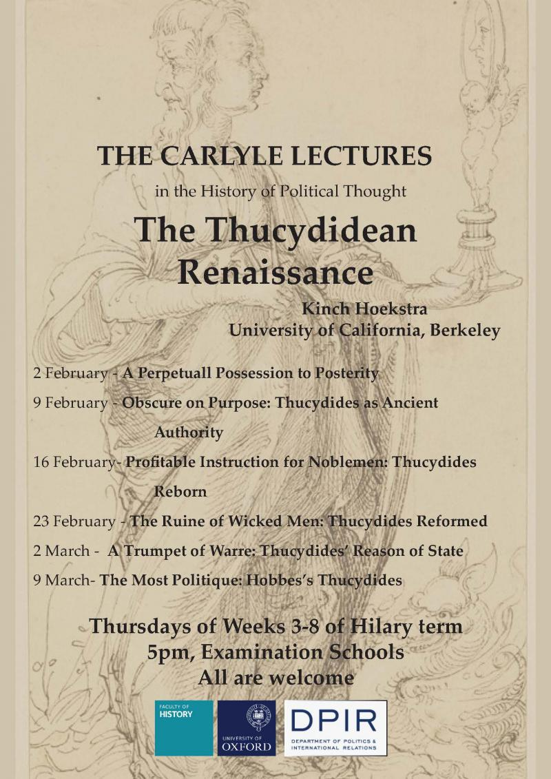 Poster for the 2016 Carlyle Lecture Series