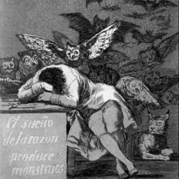 Francisco de Goya- The Sleep of Reason Produces Monsters